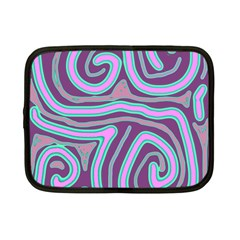 Purple Lines Netbook Case (small)  by Valentinaart