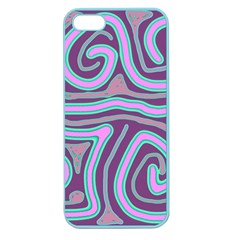 Purple Lines Apple Seamless Iphone 5 Case (color) by Valentinaart