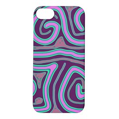 Purple Lines Apple Iphone 5s/ Se Hardshell Case by Valentinaart