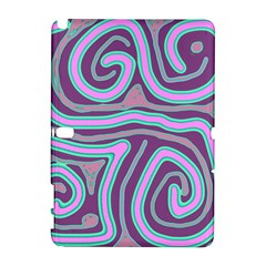 Purple Lines Samsung Galaxy Note 10 1 (p600) Hardshell Case by Valentinaart