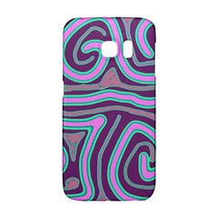 Purple Lines Galaxy S6 Edge by Valentinaart