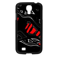 Black And Red Artistic Abstraction Samsung Galaxy S4 I9500/ I9505 Case (black) by Valentinaart