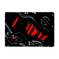 Black And Red Artistic Abstraction Ipad Mini 2 Flip Cases by Valentinaart