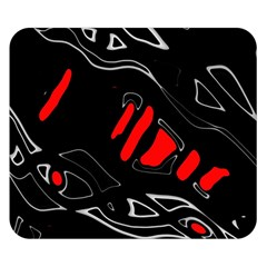 Black And Red Artistic Abstraction Double Sided Flano Blanket (small)  by Valentinaart