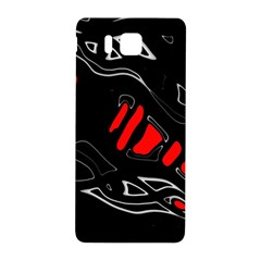 Black And Red Artistic Abstraction Samsung Galaxy Alpha Hardshell Back Case by Valentinaart