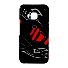 Black and red artistic abstraction HTC One M9 Hardshell Case by Valentinaart