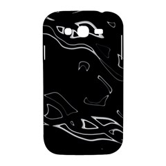 Black and white Samsung Galaxy Grand DUOS I9082 Hardshell Case by Valentinaart