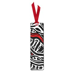 Red, Black And White Abstract Art Small Book Marks by Valentinaart