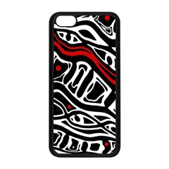 Red, Black And White Abstract Art Apple Iphone 5c Seamless Case (black) by Valentinaart
