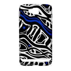 Deep blue, black and white abstract art Samsung Ativ S i8750 Hardshell Case by Valentinaart