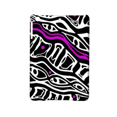 Purple, Black And White Abstract Art Ipad Mini 2 Hardshell Cases by Valentinaart