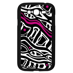 Magenta, Black And White Abstract Art Samsung Galaxy Grand Duos I9082 Case (black) by Valentinaart