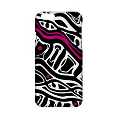 Magenta, Black And White Abstract Art Apple Iphone 6/6s Hardshell Case by Valentinaart