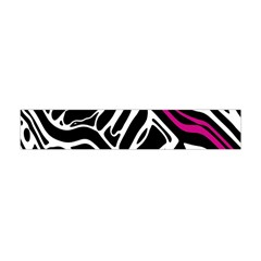 Magenta, Black And White Abstract Art Flano Scarf (mini) by Valentinaart
