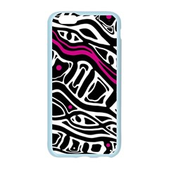 Magenta, black and white abstract art Apple Seamless iPhone 6/6S Case (Color) by Valentinaart
