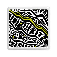 Yellow, Black And White Abstract Art Memory Card Reader (square)  by Valentinaart