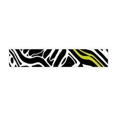 Yellow, black and white abstract art Flano Scarf (Mini) by Valentinaart