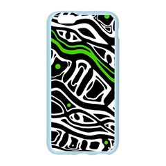 Green, black and white abstract art Apple Seamless iPhone 6/6S Case (Color) by Valentinaart