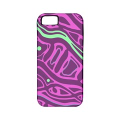 Purple and green abstract art Apple iPhone 5 Classic Hardshell Case (PC+Silicone)