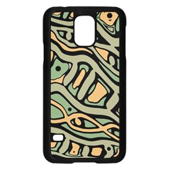 Green Abstract Art Samsung Galaxy S5 Case (black) by Valentinaart