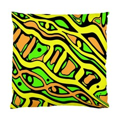 Yellow, Green And Oragne Abstract Art Standard Cushion Case (two Sides) by Valentinaart