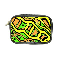Yellow, Green And Oragne Abstract Art Coin Purse by Valentinaart