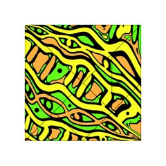 Yellow, green and oragne abstract art Acrylic Tangram Puzzle (4  x 4 ) by Valentinaart