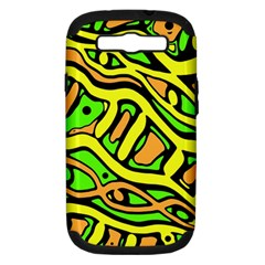Yellow, Green And Oragne Abstract Art Samsung Galaxy S Iii Hardshell Case (pc+silicone) by Valentinaart