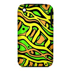 Yellow, Green And Oragne Abstract Art Apple Iphone 3g/3gs Hardshell Case (pc+silicone) by Valentinaart