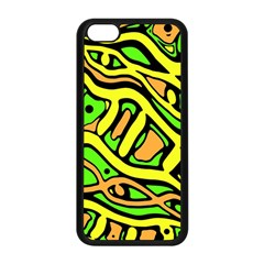 Yellow, Green And Oragne Abstract Art Apple Iphone 5c Seamless Case (black) by Valentinaart