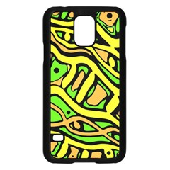 Yellow, Green And Oragne Abstract Art Samsung Galaxy S5 Case (black) by Valentinaart