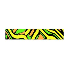Yellow, Green And Oragne Abstract Art Flano Scarf (mini) by Valentinaart