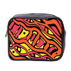 Orange hot abstract art Mini Toiletries Bag 2-Side