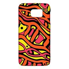 Orange Hot Abstract Art Galaxy S6 by Valentinaart