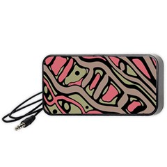 Decorative abstract art Portable Speaker (Black)  by Valentinaart