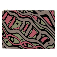 Decorative Abstract Art Cosmetic Bag (xxl)  by Valentinaart