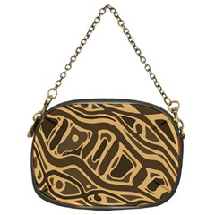Brown Abstract Art Chain Purses (two Sides)  by Valentinaart