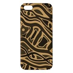 Brown Abstract Art Iphone 5s/ Se Premium Hardshell Case by Valentinaart