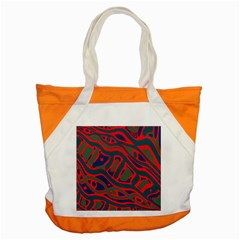 Red And Green Abstract Art Accent Tote Bag by Valentinaart