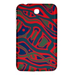 Red And Green Abstract Art Samsung Galaxy Tab 3 (7 ) P3200 Hardshell Case  by Valentinaart