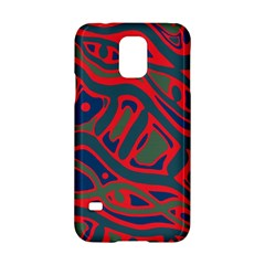 Red And Green Abstract Art Samsung Galaxy S5 Hardshell Case  by Valentinaart