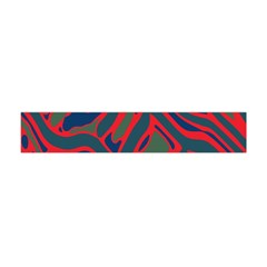 Red And Green Abstract Art Flano Scarf (mini) by Valentinaart