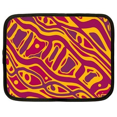 Orange Abstract Art Netbook Case (xl)  by Valentinaart