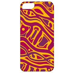 Orange Abstract Art Apple Iphone 5 Classic Hardshell Case by Valentinaart