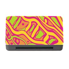 Orange Hot Abstract Art Memory Card Reader With Cf by Valentinaart