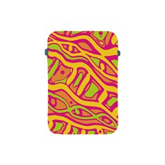 Orange Hot Abstract Art Apple Ipad Mini Protective Soft Cases by Valentinaart