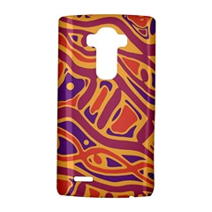 Orange Decorative Abstract Art Lg G4 Hardshell Case by Valentinaart