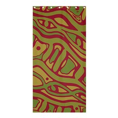 Brown Abstract Art Shower Curtain 36  X 72  (stall)  by Valentinaart