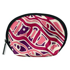 Pink And Purple Abstract Art Accessory Pouches (medium)  by Valentinaart