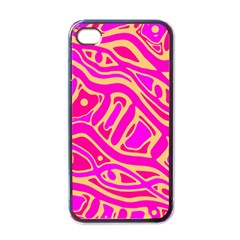 Pink Abstract Art Apple Iphone 4 Case (black) by Valentinaart